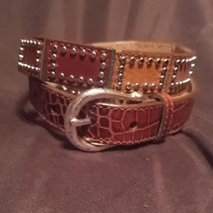 Michael Kors Brown Genuine Leather Belt Large